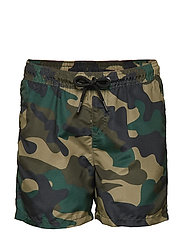 JJISUNSET JJSWIM SHORTS AKM CAMO JR - OLIVE NIGHT