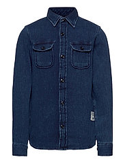 JJ30CPO SHIRT L/S JR - DARK BLUE DENIM