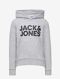 JJECORP LOGO SWEAT HOOD  NOOS JR - LIGHT GREY MELANGE