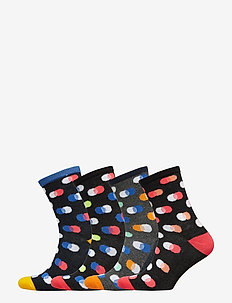 JACFINN SOCKS 4 PACK JUNIOR - BLACK
