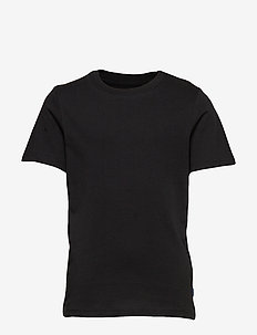 JJEORGANIC BASIC TEE SS O-NECK NOOS JR - kortermede - black