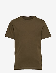 JJEORGANIC BASIC TEE SS O-NECK JR - OLIVE NIGHT