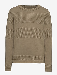 JORTRISTAN KNIT CREW NECK JUNIOR - DUSTY OLIVE