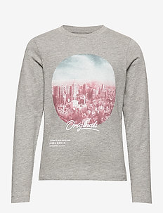JORUPTOWN TEE LS CREW NECK JUNIOR - LIGHT GREY MELANGE