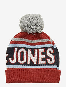 JACMAC TASSLE BEANIE JR - BRICK RED