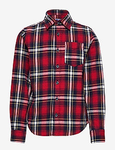 JORBROOK SHIRT LS JR - BRICK RED
