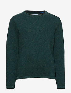 JORNAT KNIT CREW NECK JR - SEA MOSS