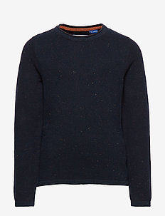 JORNAT KNIT CREW NECK JR - SKY CAPTAIN