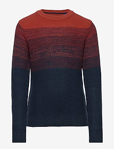 JORBASE KNIT CREW NECK. JR - dzianinowe - chili