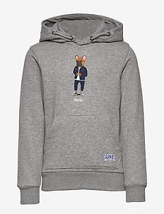JORFRENCHIE SWEAT HOOD JR - bluzy z kapturem - light grey melange