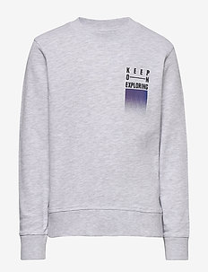 JORWANDER SWEAT CREW NECK JR - bluzy - white melange