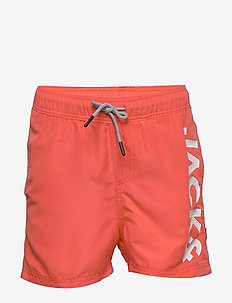 JJIARUBA JJSWIMSHORTS AKM JONES JR NOOS - swim shorts - hot coral