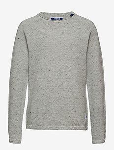 JJEHILL KNIT CREW NECK JR - trøjer - light grey melange