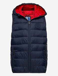 JJEMAGIC BODY WARMER HOOD NOOS JR - vester - navy blazer