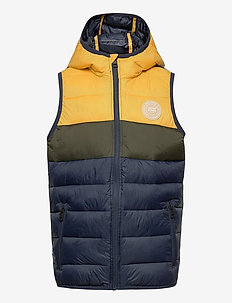 JJEMAGIC BODY WARMER HOOD NOOS JR - vester - yolk yellow