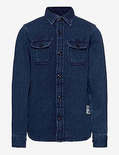 JJ30CPO SHIRT L/S JR - koszule - dark blue denim
