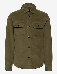 JJIALFRED JJCORDUROY SHIRT AKM JR - koszule - olive night