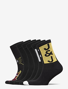 JACPAINT SOCK 5 PACK JR - skarpetki - black