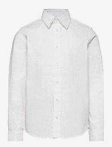 JJEMASON STRETCH SHIRT L/S ES21 JR - shirts - white