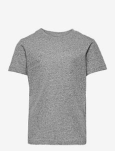 JJEMELANGE TEE SS O-NECK NOOS JR - kortärmade - light grey melange