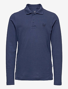 JJEBASIC DENIM DOG POLO LS JR - pikeepaidat - denim blue