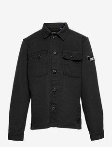 JCOBEN CLASSIC OVERSHIRT LS JR - shirts - black