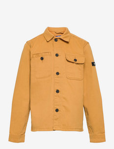 JCOBEN CLASSIC OVERSHIRT LS JR - shirts - honey mustard