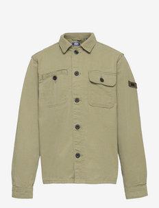 JCOBEN CLASSIC OVERSHIRT LS JR - shirts - oil green