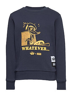 Jack & Jones JJEJEANS WASHED CREW NECK   - Sweatshirt - navy blazer
