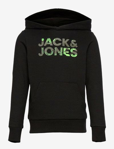 JJSOLDIER LOGO SWEAT HOOD JR - hoodies - black