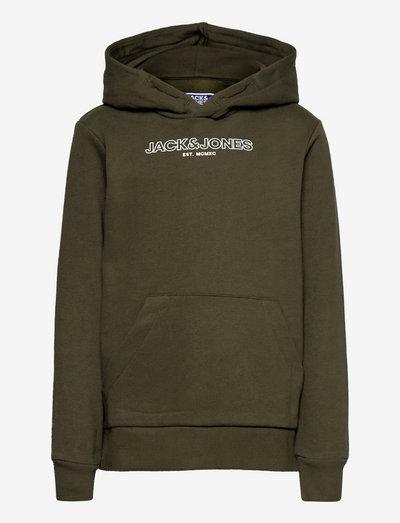 JJBANK SWEAT HOOD JR - hoodies - forest night