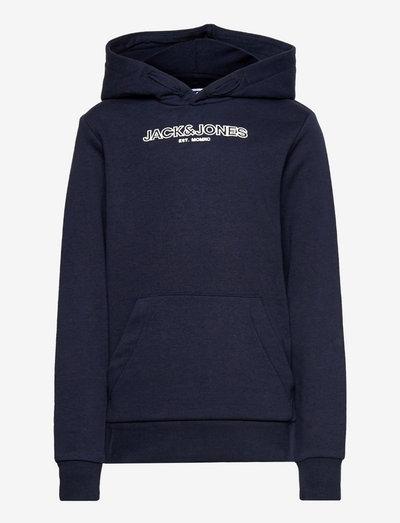 JJBANK SWEAT HOOD JR - hoodies - navy blazer