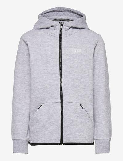 JCOAIR SWEAT ZIP HOOD JR - kapuzenpullover - light grey melange