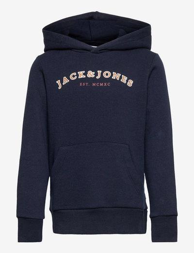 JJCROSS SWEAT HOOD JR - hoodies - navy blazer