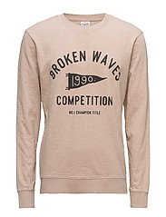 JORHARBOUR SWEAT CREW NECK - PEACH BEIGE
