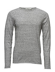 JPRMARVIN KNIT CREW NECK - GREY MELANGE
