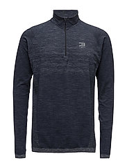 JJTMOW SEAMLESS 1/2 ZIP SWEAT - NAVY BLAZER