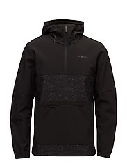 JJTSEASON SWEAT 1/2 ZIP HOOD - BLACK