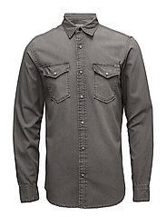 JJVSHERIDAN SHIRT L/S WESTERN NOOS - LIGHT GREY DENIM