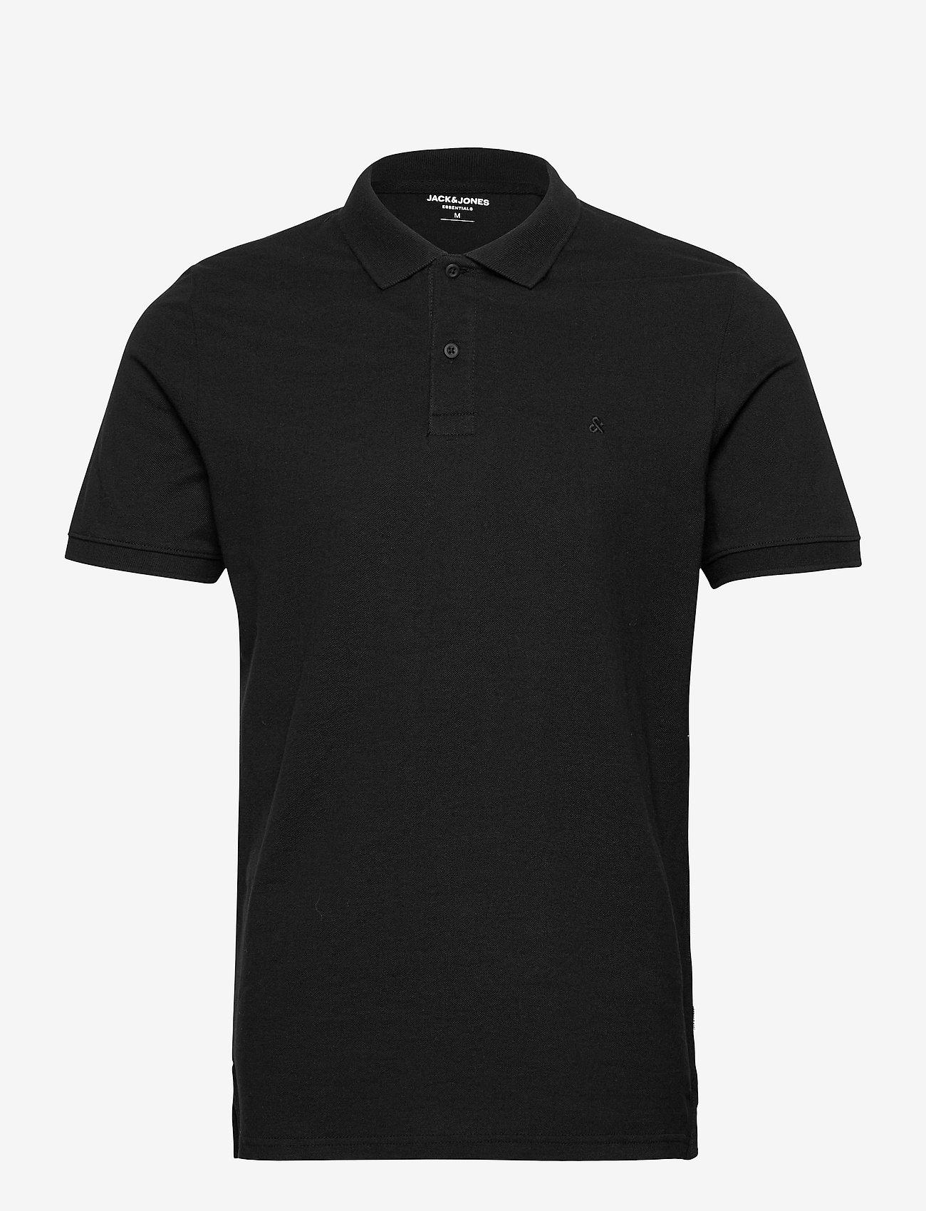 Jack & Jones - JJEBASIC POLO SS - short-sleeved polos - black - 0