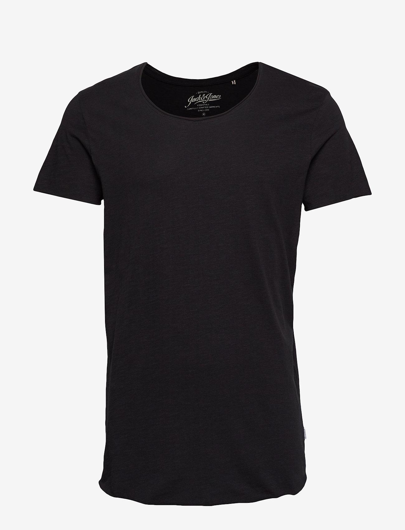 Jack & Jones - JJEBAS TEE SS U-NECK NOOS - basic t-shirts - black - 0
