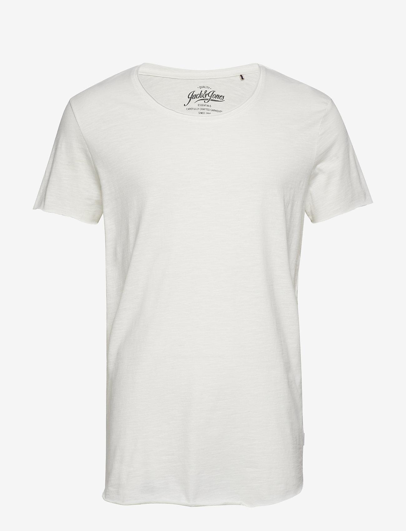 Jack & Jones - JJEBAS TEE SS U-NECK - basic t-shirts - cloud dancer - 0