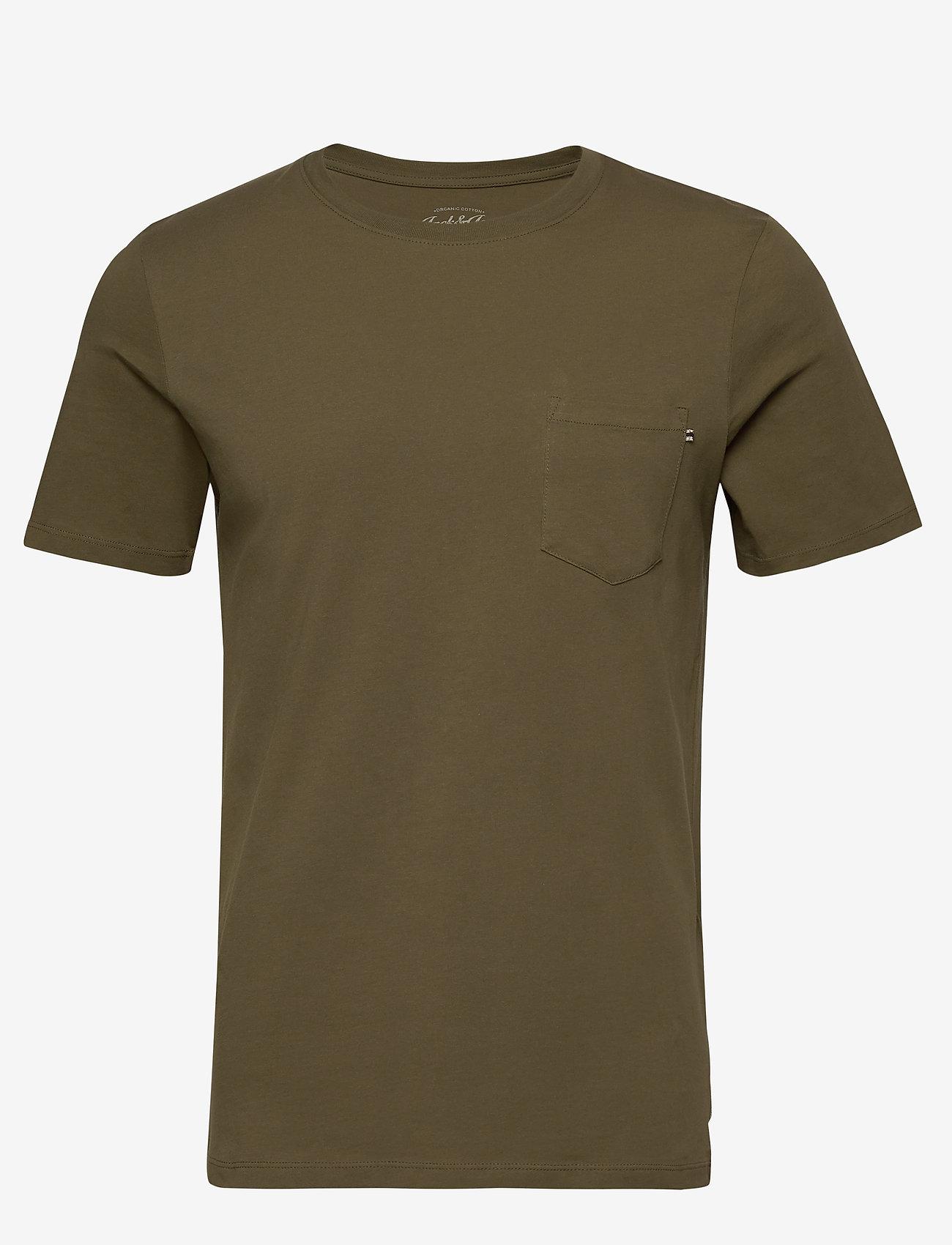 Jack & Jones - JJEPOCKET TEE SS O-NECK NOOS - basic t-shirts - olive night - 0