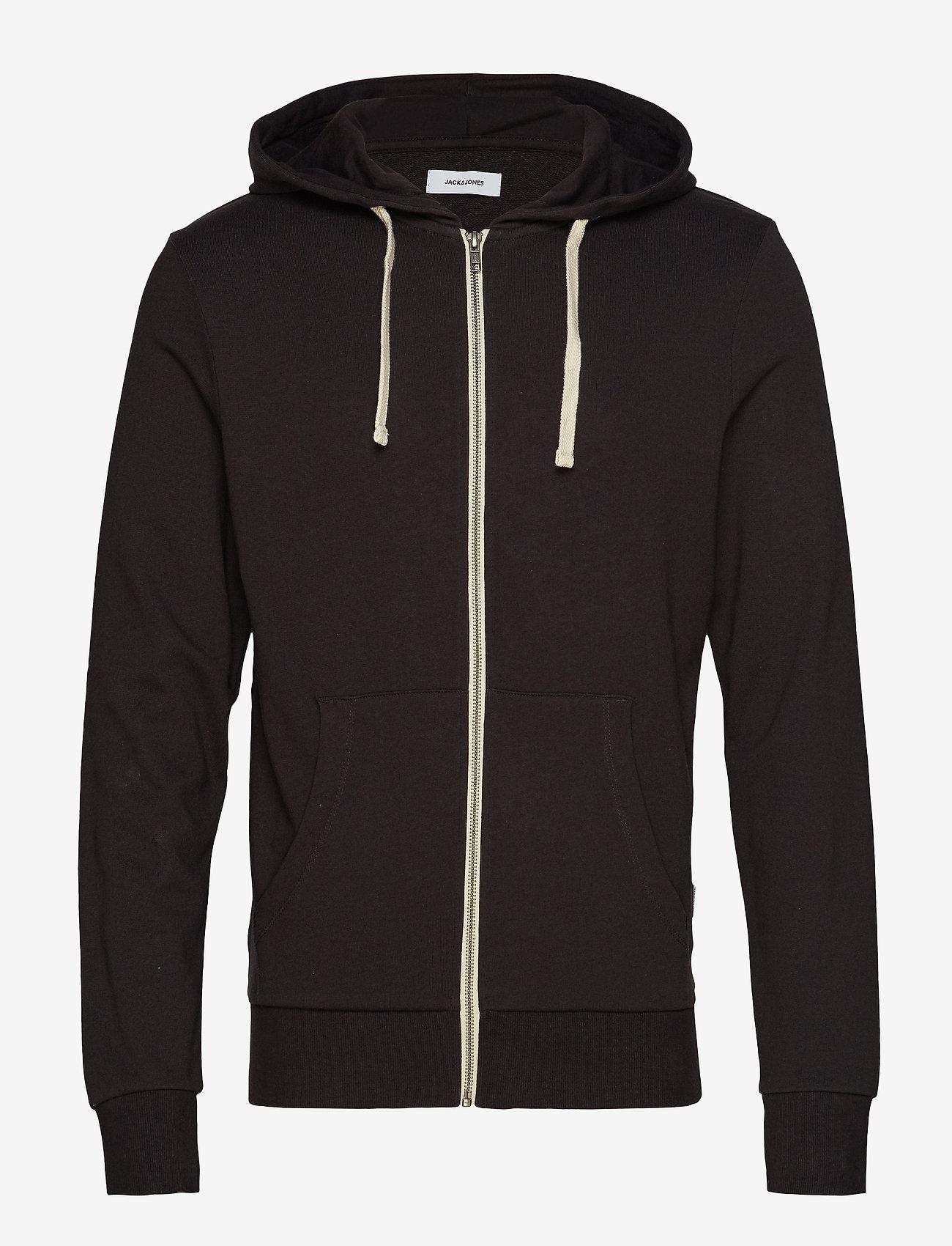 Jack & Jones - JJEHOLMEN SWEAT ZIP HOOD NOOS - basic sweatshirts - black - 0