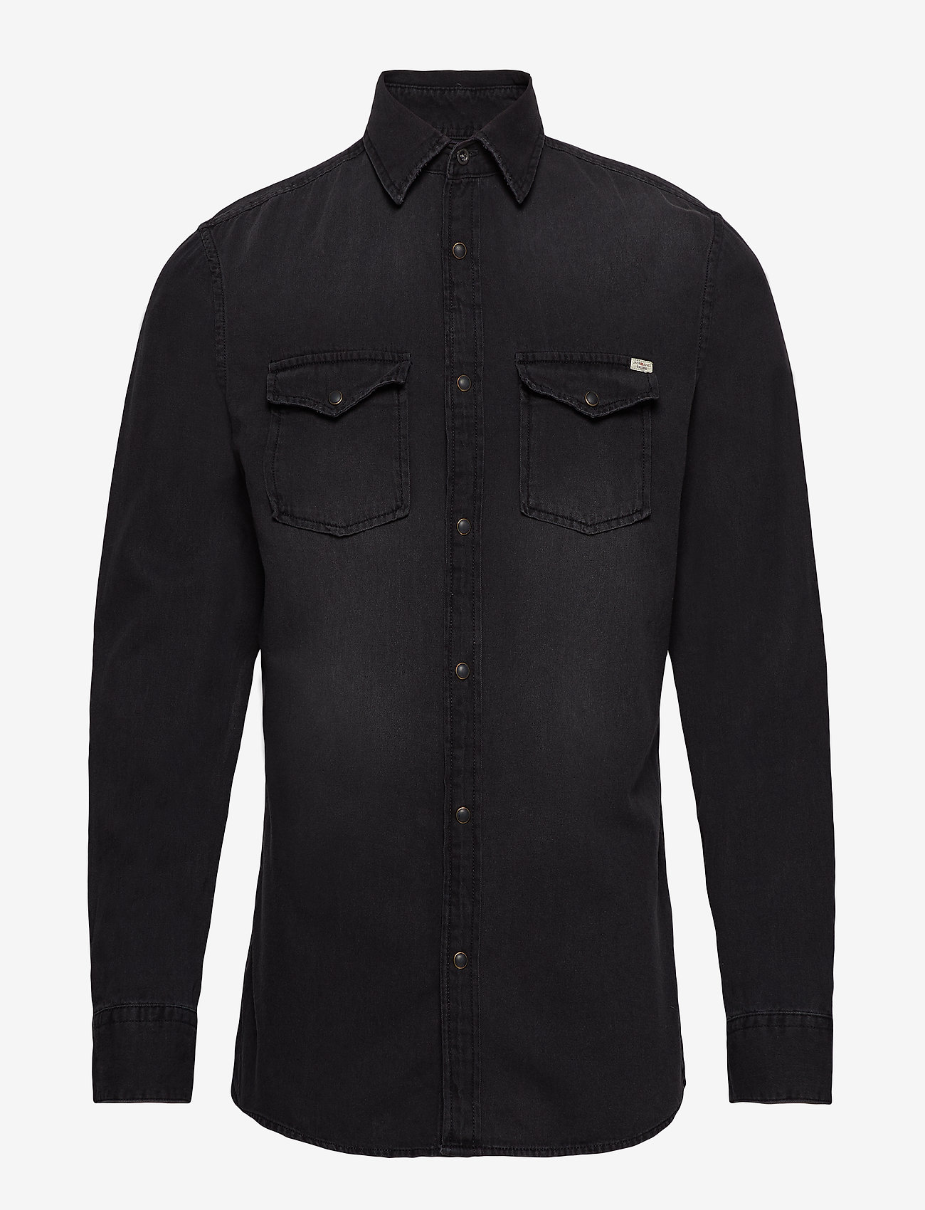Jack & Jones - JJESHERIDAN SHIRT L/S NOOS - farkkupaidat - black denim - 0