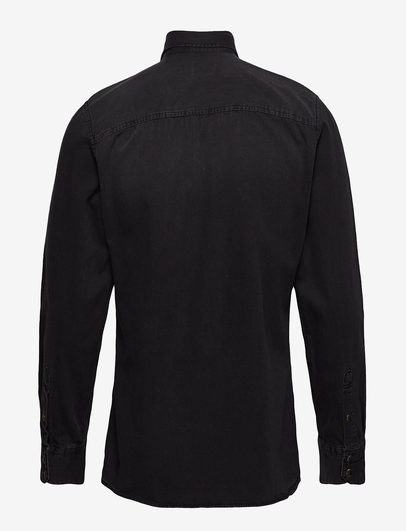 Jack & Jones - JJESHERIDAN SHIRT L/S - jeansskjortor - black denim - 1