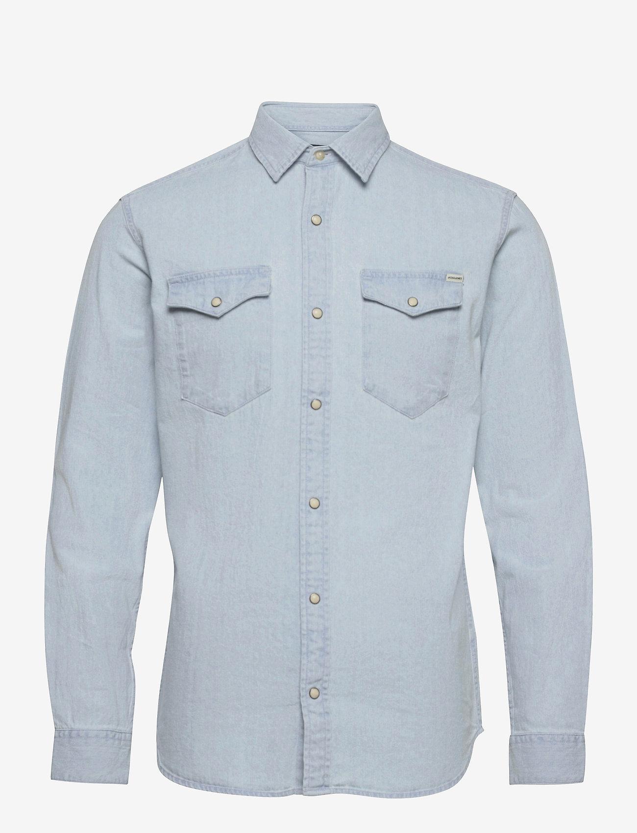 Jack & Jones - JJESHERIDAN SHIRT L/S - jeansskjortor - light blue denim - 0