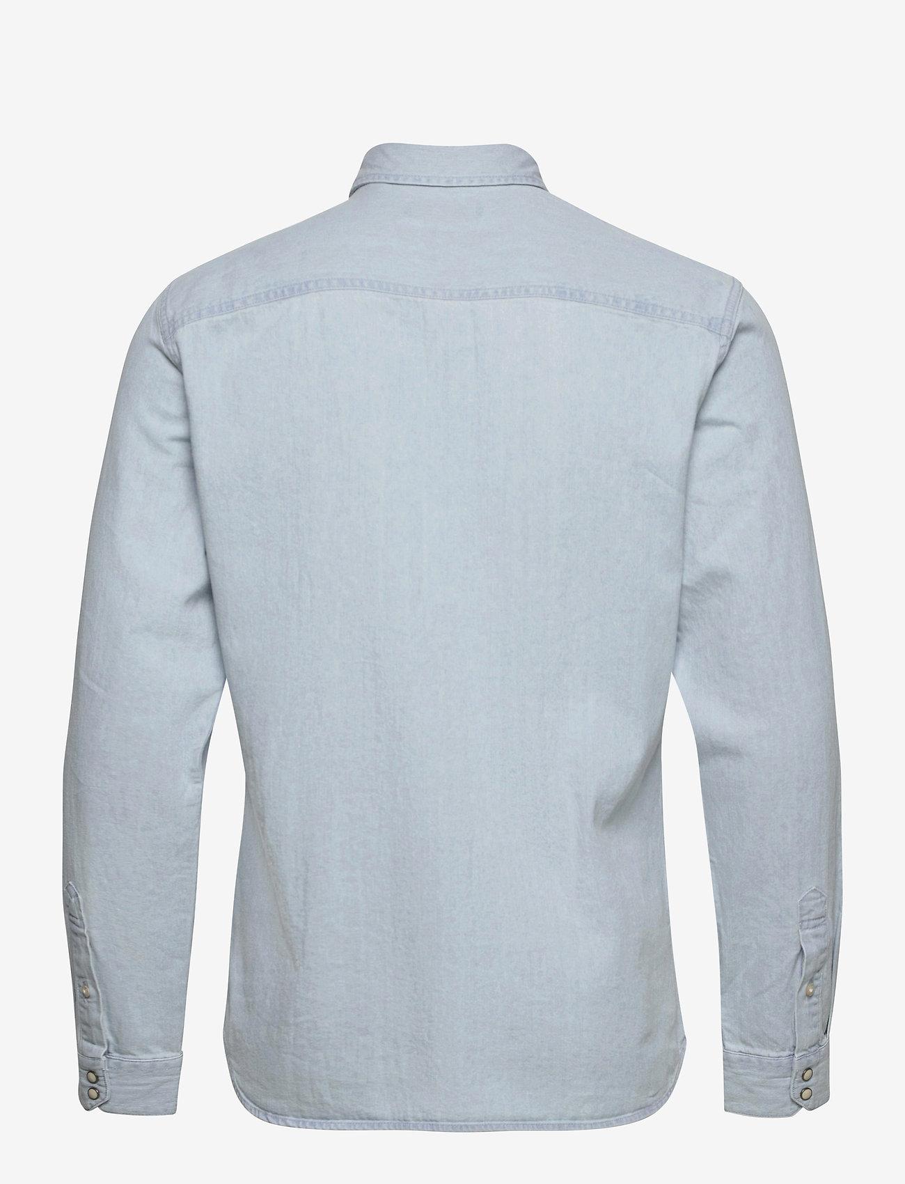 Jack & Jones - JJESHERIDAN SHIRT L/S - jeansskjortor - light blue denim - 1