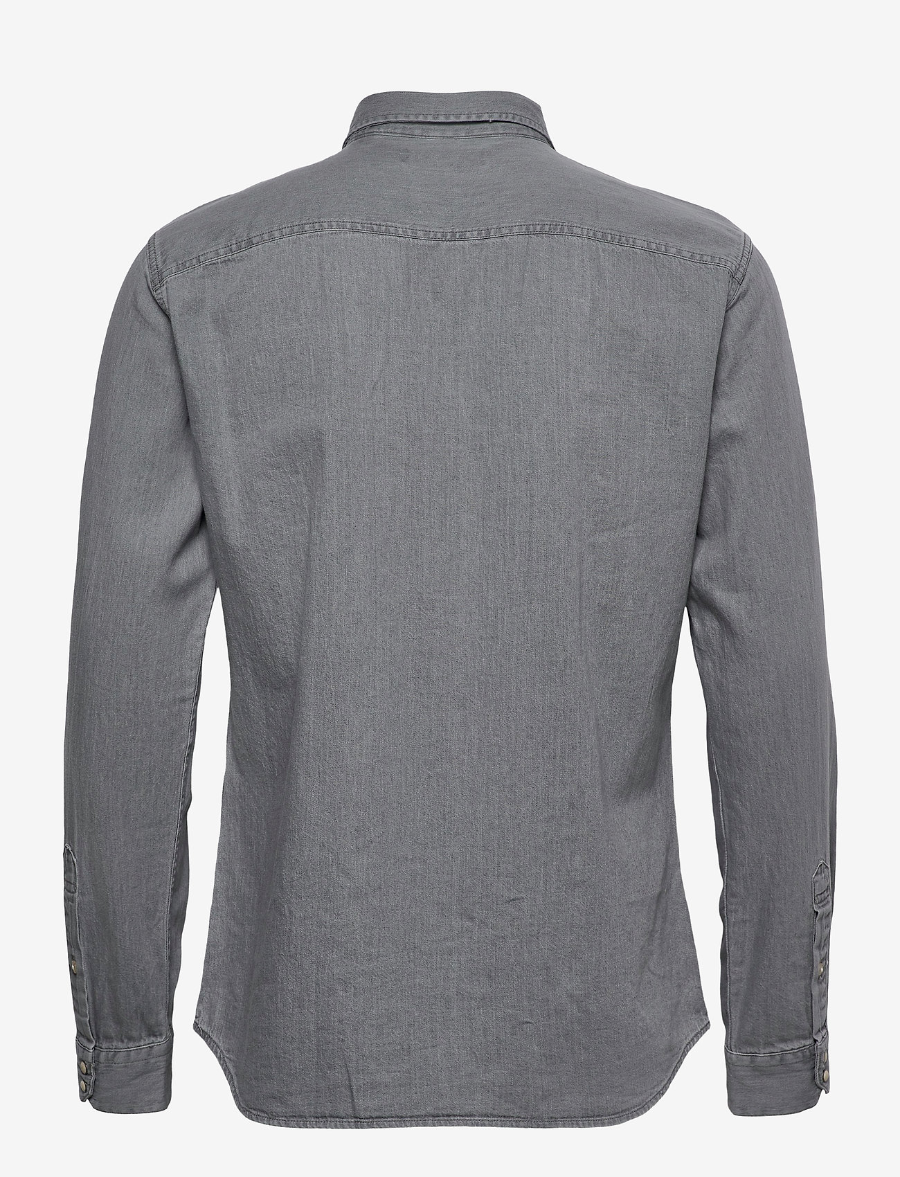 Jack & Jones - JJESHERIDAN SHIRT L/S - jeansskjortor - light grey denim - 1