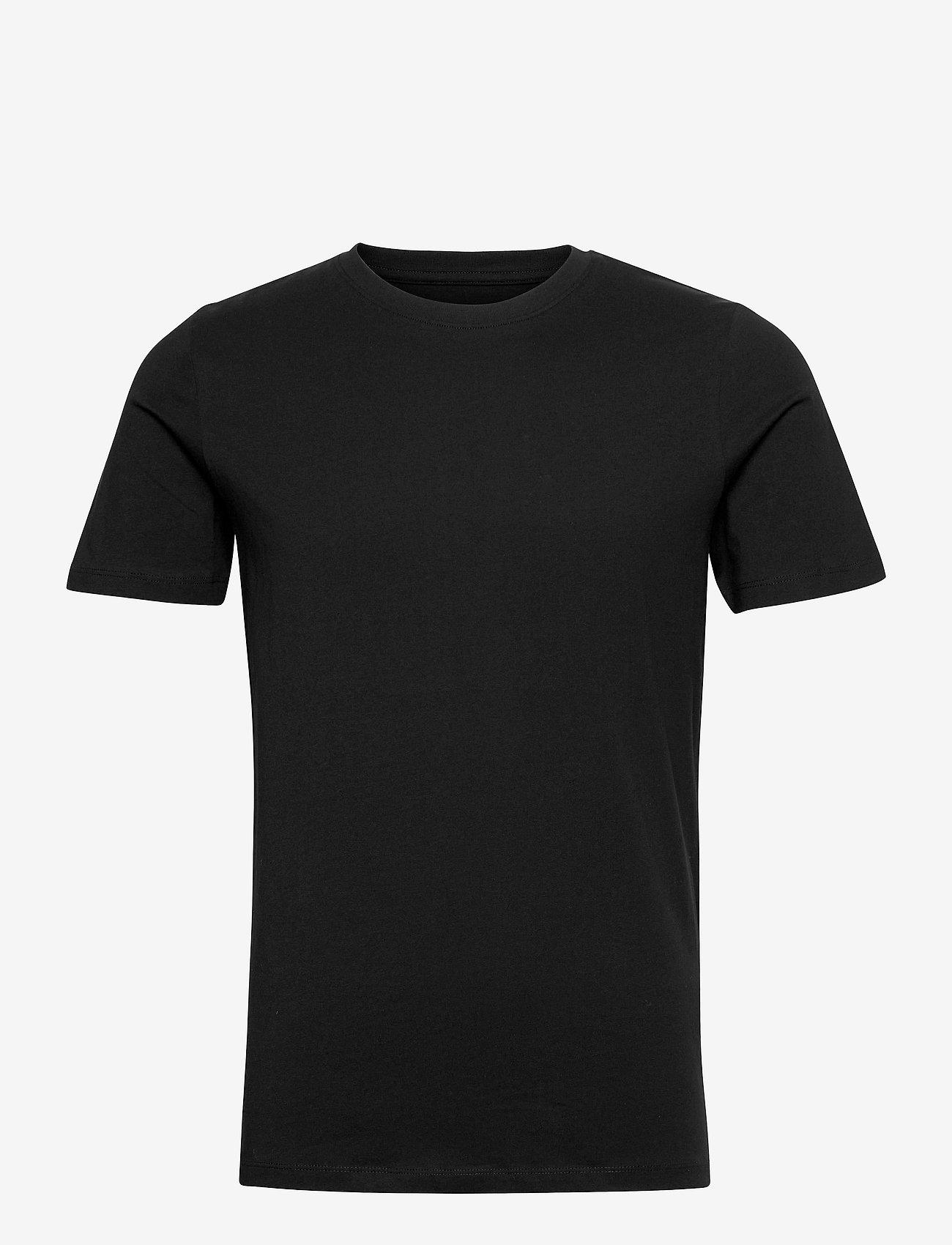 Jack & Jones - JJEORGANIC BASIC TEE SS O-NECK - basic t-shirts - black - 0